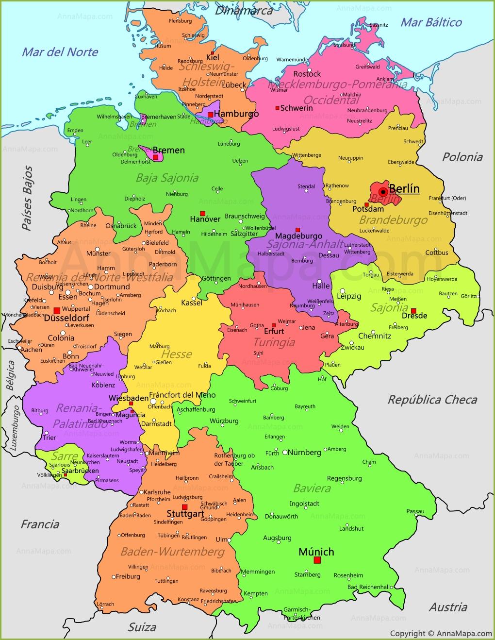 Mapa De Alemania Ciudades.Mapa De Alemania Plano Alemania Annamapa Com