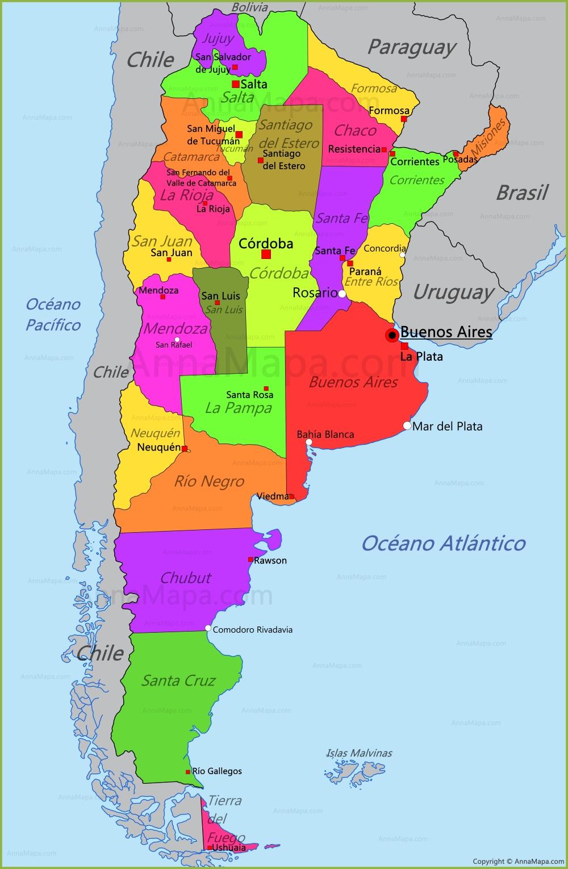 Mapa de Argentina   AnnaMapa.com