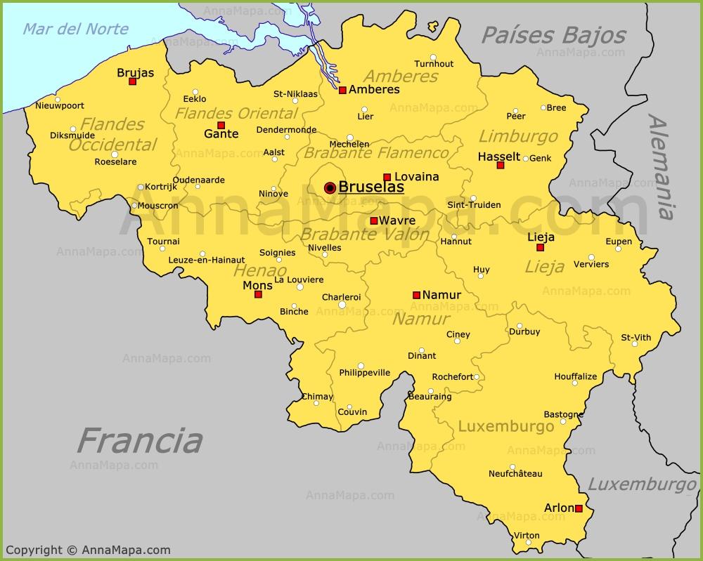 belgica mapa Mapa de Bélgica | Plano Bélgica   AnnaMapa.com belgica mapa