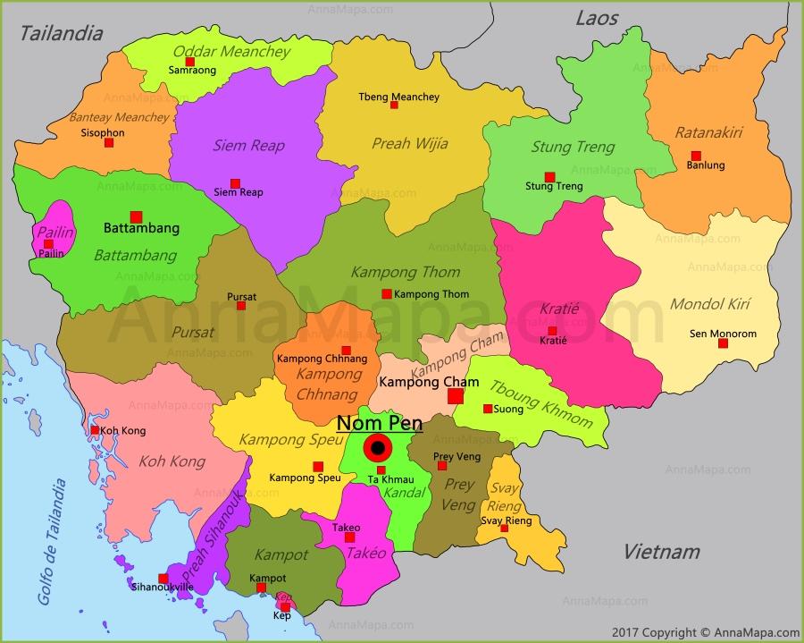 Mapa De Camboya Annamapa Com