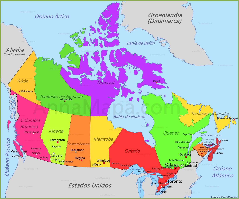 canada mapa Canada canada mapa