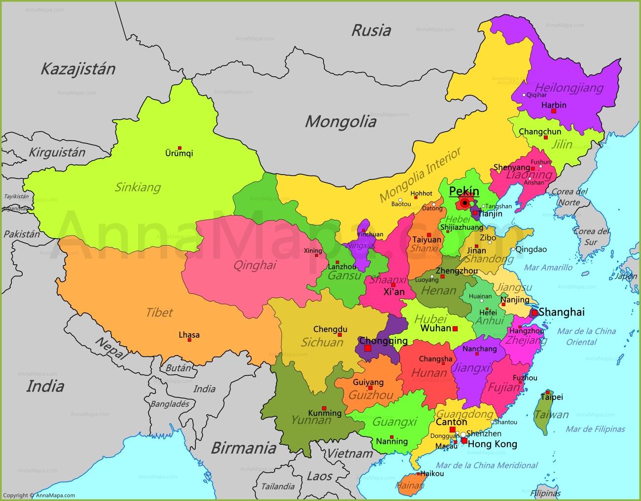 china mapa Mapa de China   AnnaMapa.com china mapa