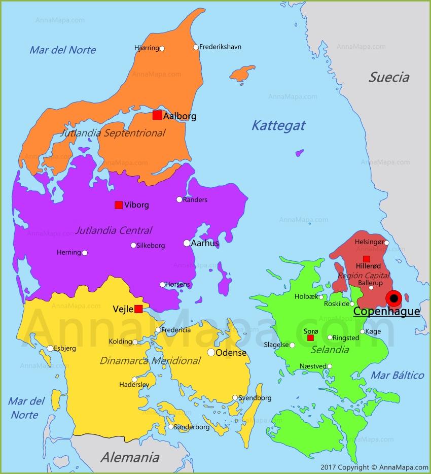 Resultado de imagen de dinamarca mapa