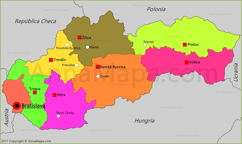 eslovaquia mapa Mapa de Eslovaquia   AnnaMapa.com eslovaquia mapa