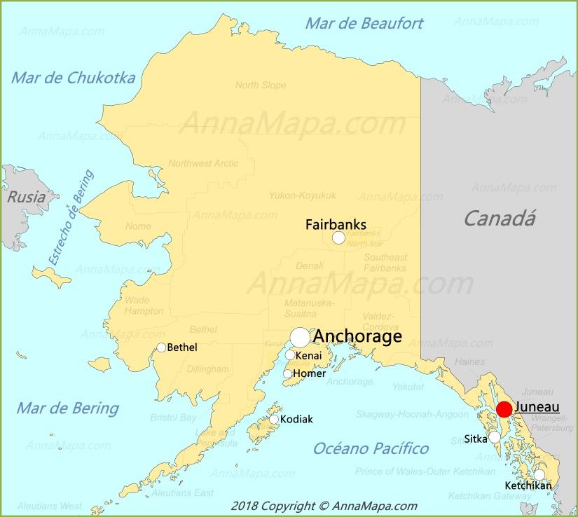 Mapa De Alaska Estados Unidos Annamapa Com
