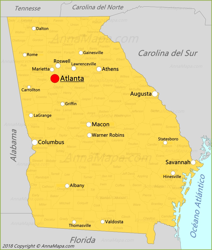Mapa de Georgia | Estados Unidos - AnnaMapa.com Map De Usa on map in us, map of usa, delaware usa, rhode island usa, map tx usa, map nw usa, world map usa, map with title, map from mexico, map maine usa, map for us, map se usa, map in india, map sw usa, map los angeles usa, google maps usa, map in europe, map of missouri and bordering states, map or usa, map af usa,