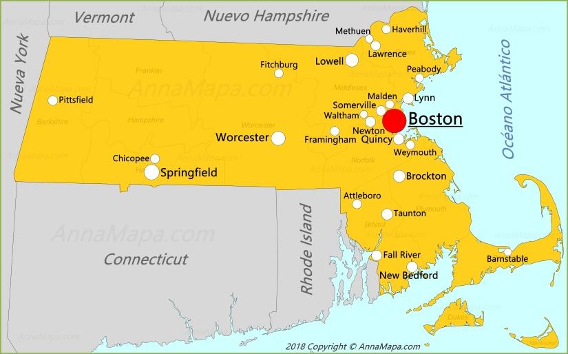 Mapa De Massachusetts Estados Unidos Annamapa Com