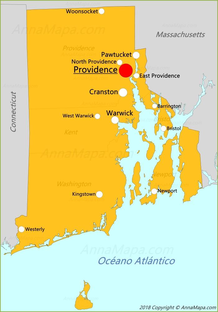 Mapa De Rhode Island Estados Unidos Annamapa Com