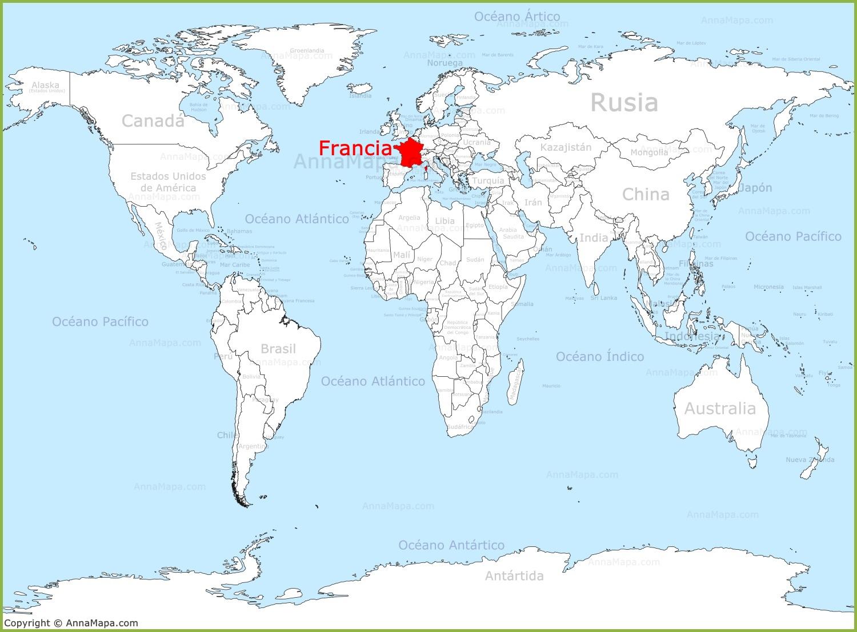 Francia en el mapa del mundo for Donde se encuentra el marmol