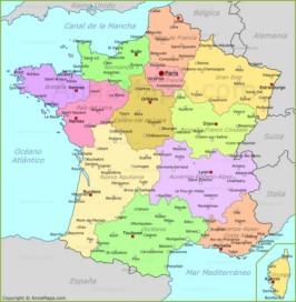 Mapa De Francia Ciudades.Mapa De Francia Con Las Ciudades Annamapa Com