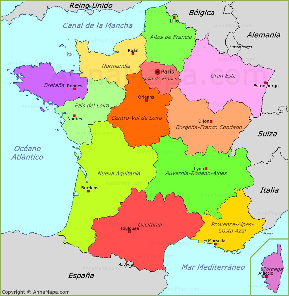 Mapa Francia Politico  My blog