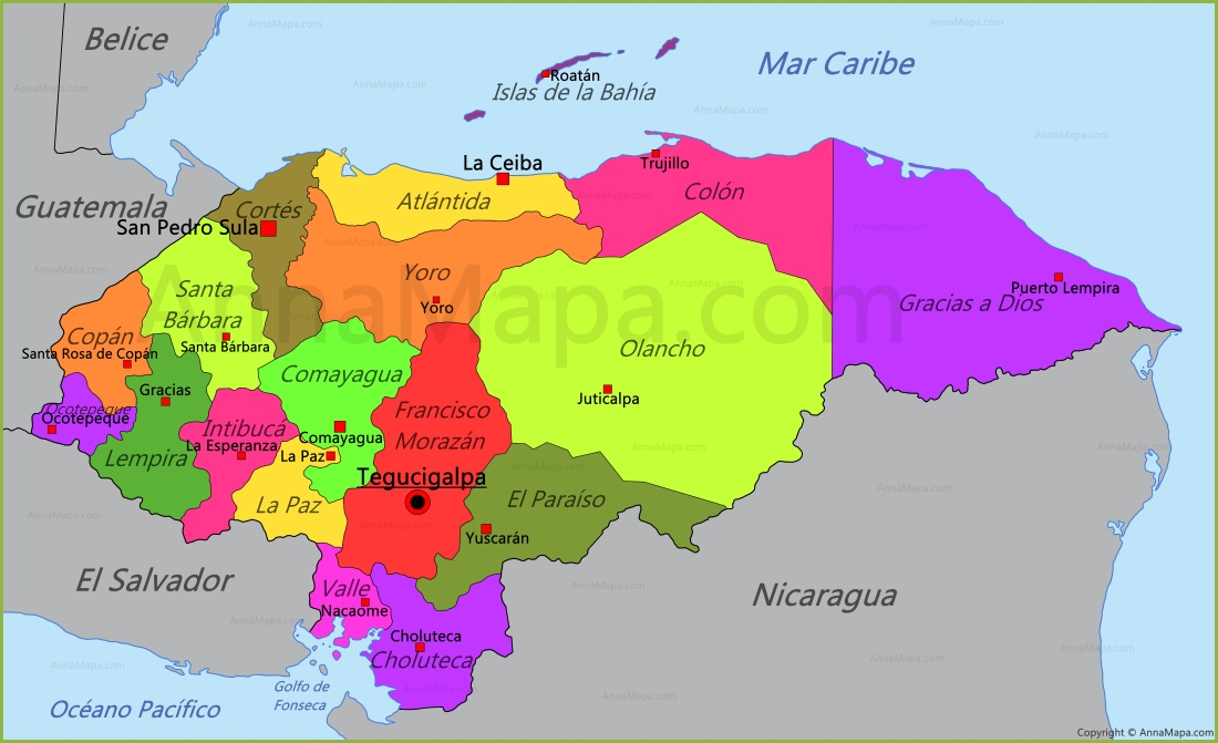 honduras mapa Mapa de Honduras   AnnaMapa.com honduras mapa