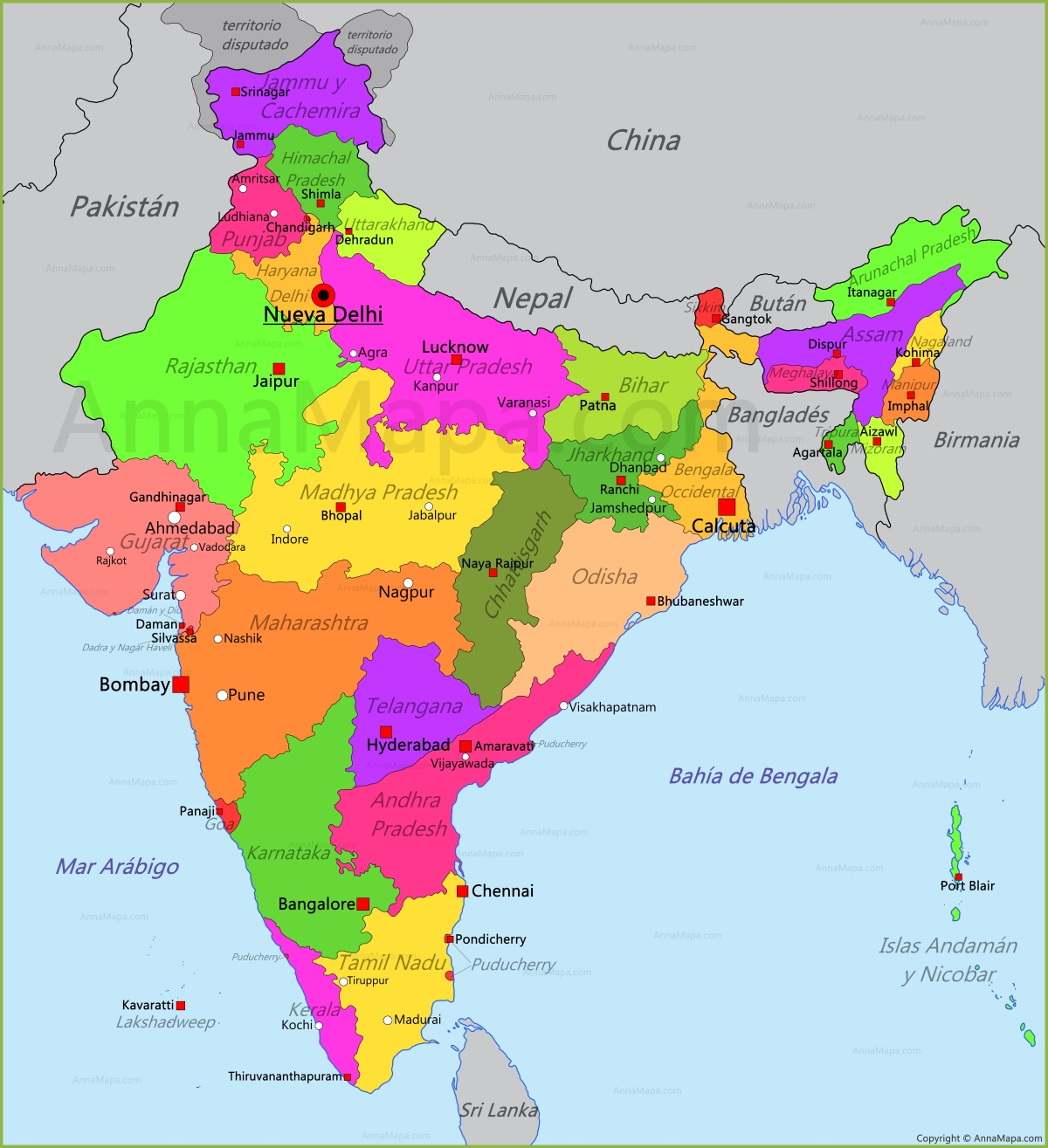Mapa De India | threeblindants.com