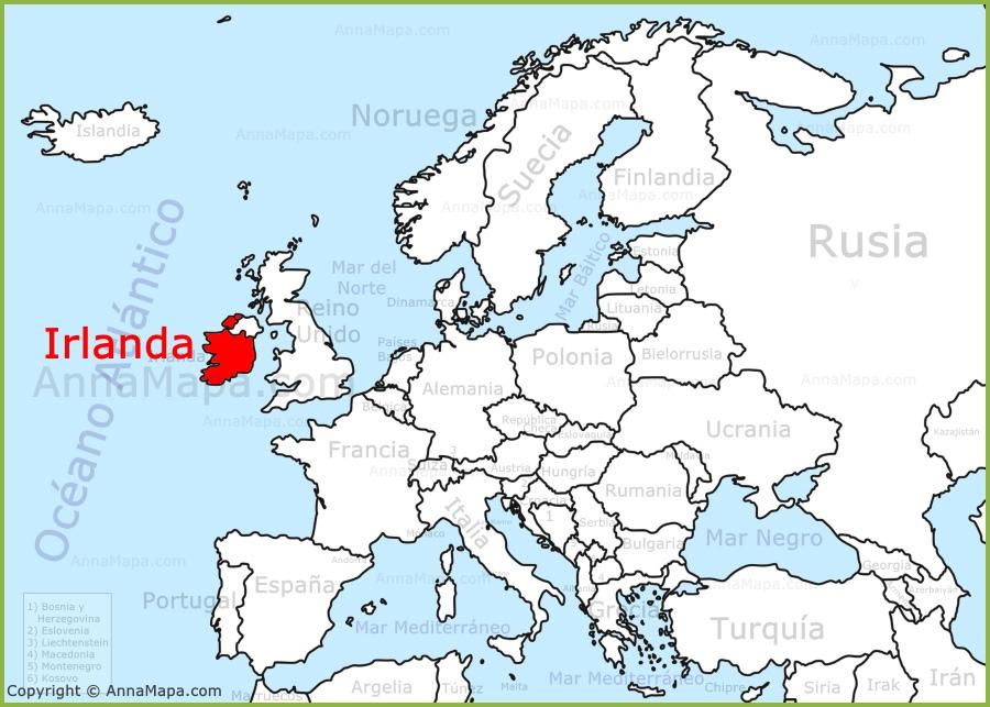 irlanda mapa europa Irlanda en el mapa de Europa   AnnaMapa.com irlanda mapa europa
