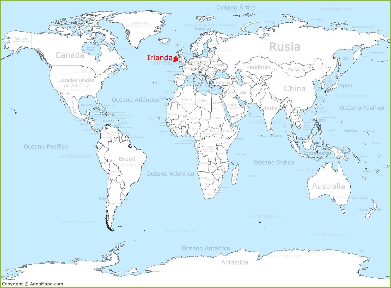 irlanda mapa Irlanda en el mapa del mundo   AnnaMapa.com irlanda mapa