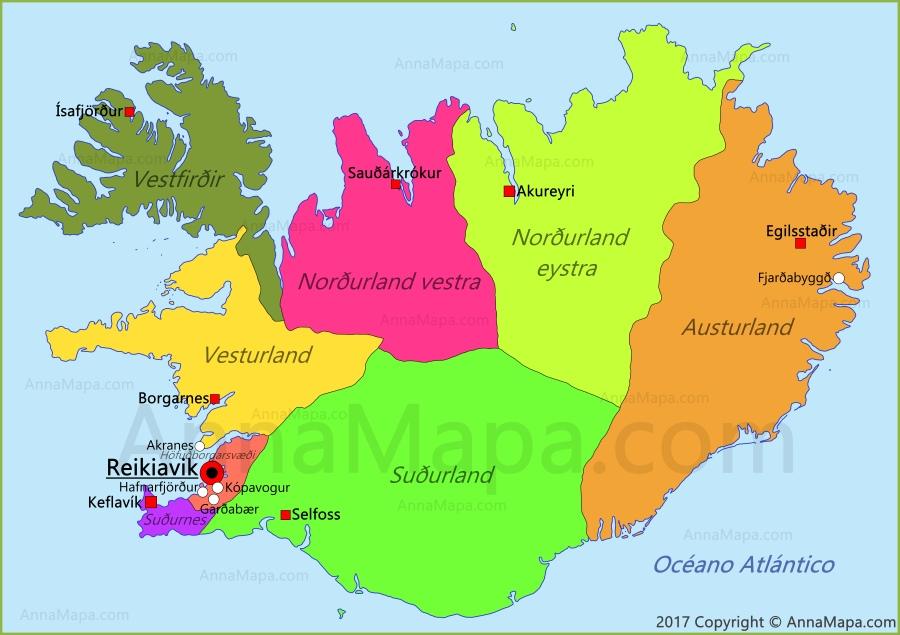 islandia mapa Mapa de Islandia   AnnaMapa.com islandia mapa