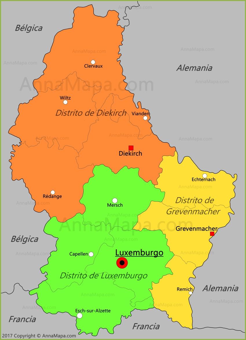 mapa luxemburgo Mapa de Luxemburgo   AnnaMapa.com mapa luxemburgo
