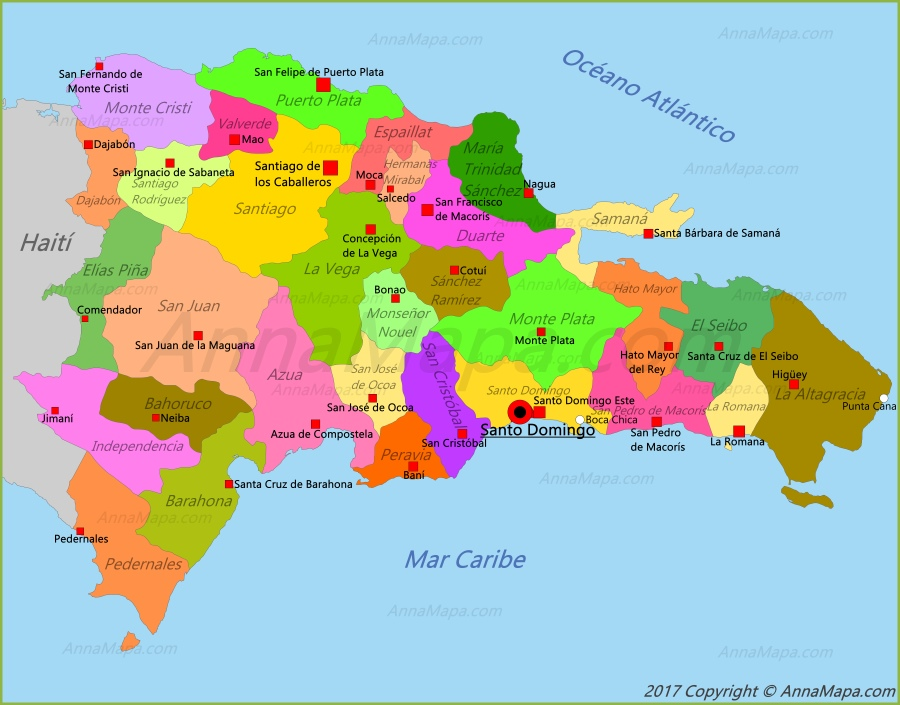 mapa republica dominicana Mapa de República Dominicana   AnnaMapa.com mapa republica dominicana
