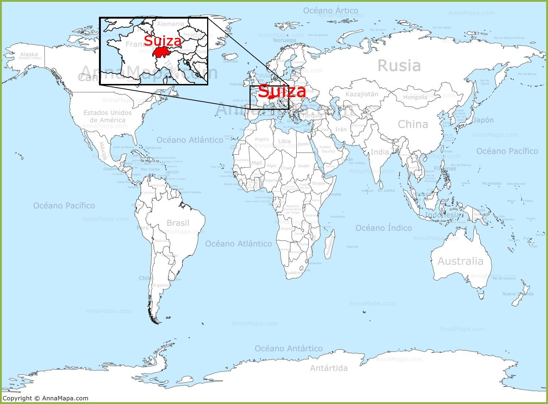 Suiza en el mapa del mundo for El mundo del mueble sillones